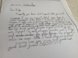 School Visit - letter to a best friend