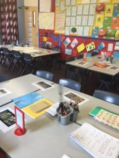 School Visits classrom set up