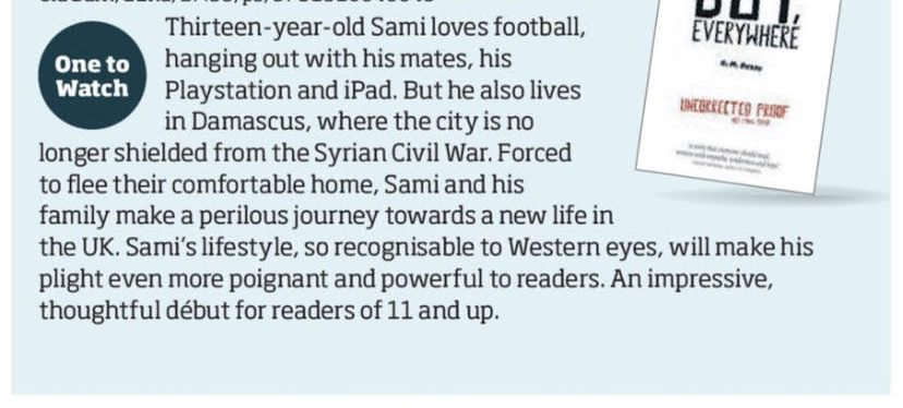Boy, Everywhere in the Bookseller One to Watch
